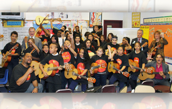 IBEW 26 Gives Students Gift of Music