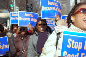 AFGE Delegates March On Capitol, Campaigning For Natl., Union Causes