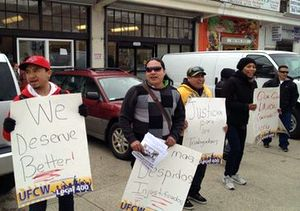 Fired Bargain Wholesale Workers Protest; Kroger Members Visit New Store in Henrico