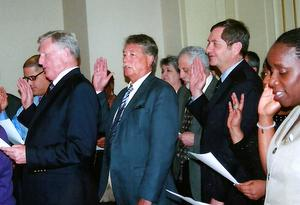 Goodwin Swears in OPEIU 2 Officers & Board, Presents UFW Award