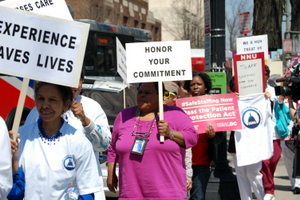 Howard University Hospital Nurses Hit Street Against RIFS