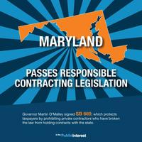 Maryland Passes Responsible Contracting Law