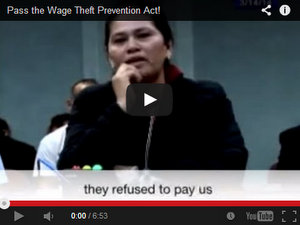 Rally Set for Tuesday to Support Wage Theft Bill