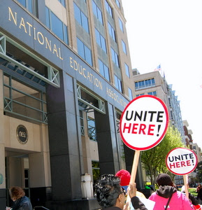 UNITE HERE 23 Urges NEA Head to Support Cafeteria Workers